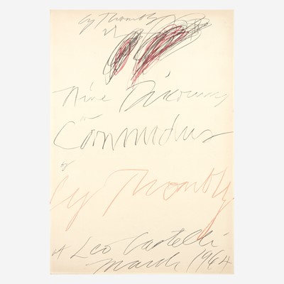 Lot 27 - [Art] Twombly, Cy