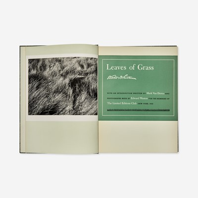 Lot 131 - [Private Press] [Limited Editions Club, The] Whitman, Walt
