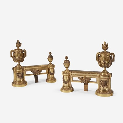Lot 34 - A Pair of Louis XVI Style Gilt-Bronze Chenets