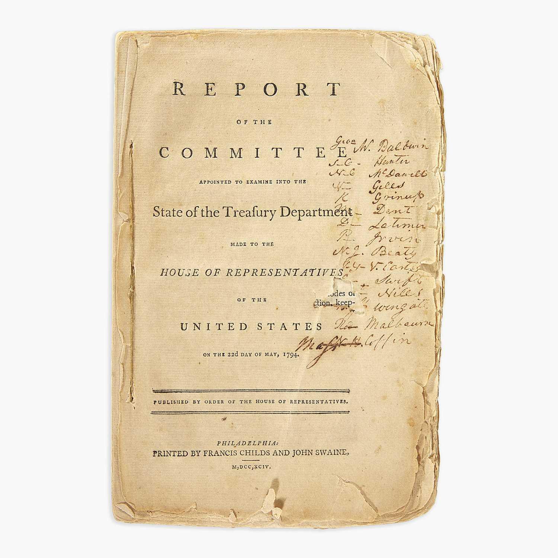 Lot 35 - [Hamilton, Alexander] [Treasury Department]
