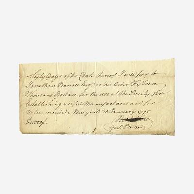 Lot 18 - [Hamilton, Alexander] [Society for Establishing Useful Manufactures]