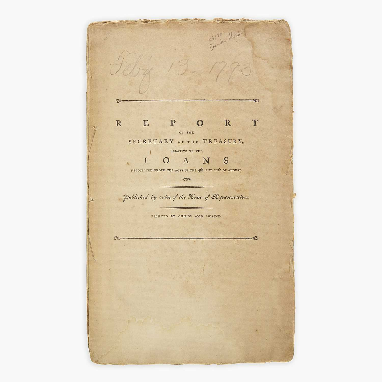 Lot 29 - [Hamilton, Alexander] [Treasury Department]