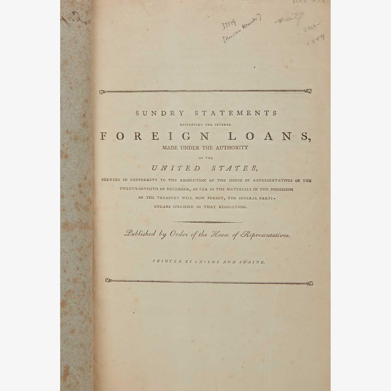 Lot 28 - [Hamilton, Alexander] [Treasury Department]