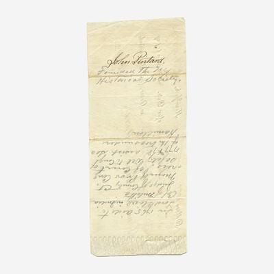 Lot 20 - [Hamilton, Alexander] [Panic of 1792] Duer, William