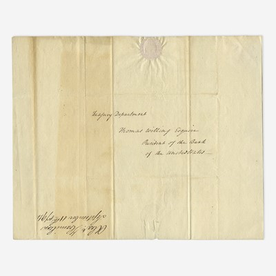 Lot 38 - [Hamilton, Alexander] [First Bank of the United States]