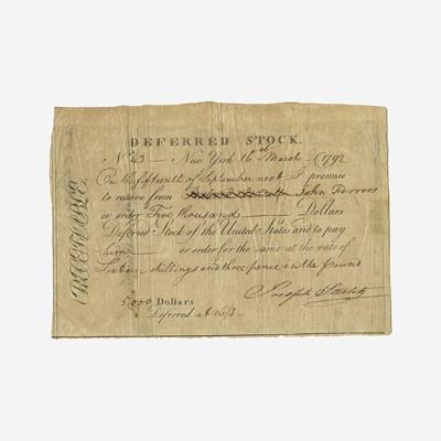 Lot 21 - [Hamilton, Alexander] [Panic of 1792]