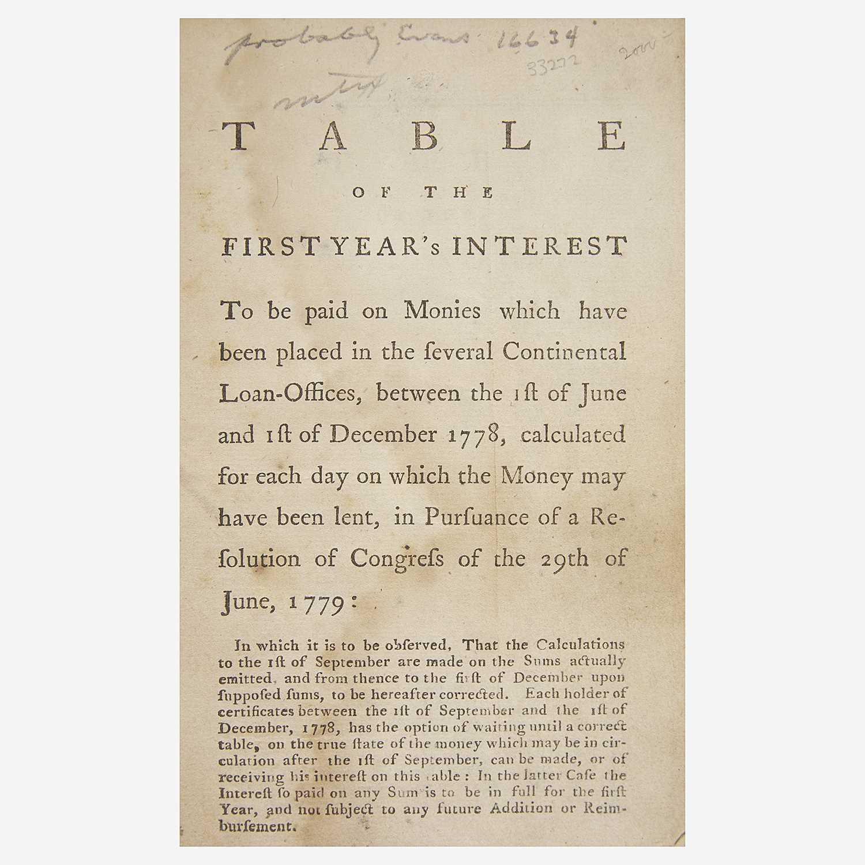Lot 1 - [Hamilton, Alexander] [American Revolution]