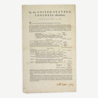 Lot 2 - [Hamilton, Alexander] [American Revolution]