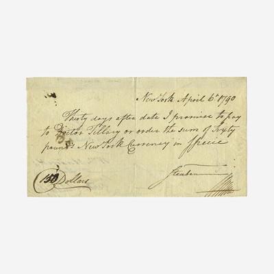 Lot 12 - [Hamilton, Alexander] Steuben, Baron von, and Alexander Hamilton