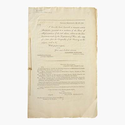 Lot 26 - [Hamilton, Alexander] [Treasury Department]