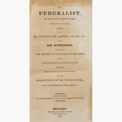 Lot 4 - [Hamilton, Alexander] [Constitution]