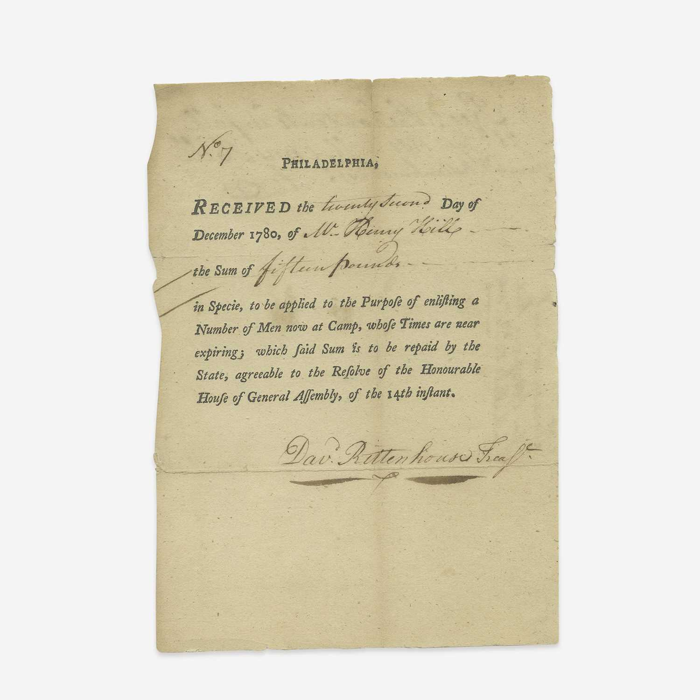 Lot 8 - [American Revolution] Rittenhouse, David