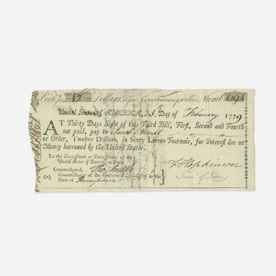 Lot 6 - [American Revolution] Hopkinson, Francis