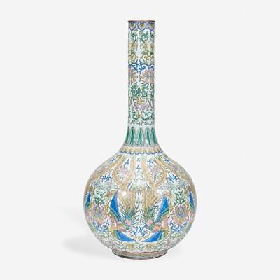 Lot 63 - A large Chinese enameled copper vase 铜胎画珐琅花瓶
