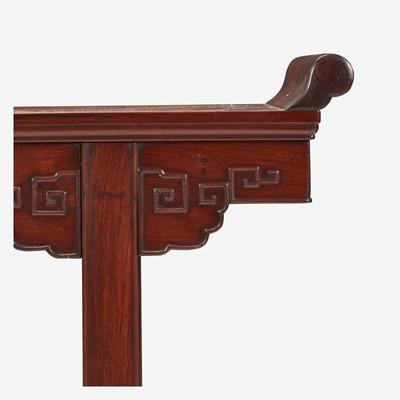Lot 95 - A Chinese hardwood altar table 硬木画案