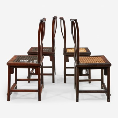 Lot 99 - Four Chinese hardwood side chairs 硬木椅子四件