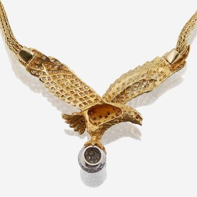 Lot 23 - An eighteen karat gold and diamond necklace, Mapamenos Natepas