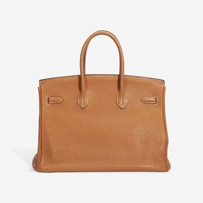 Lot 72 - A caramel togo leather palladium hardware Birkin 35, Hermès