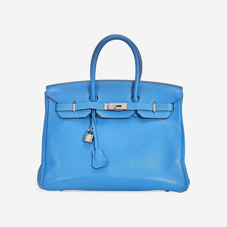 Lot 71 - A Mykonos togo leather palladium hardware Birkin 35, Hermès