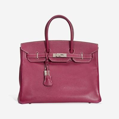 Lot 73 - A tosca and rose tyrien epsom leather palladium hardware Birkin bag 35, Hermès