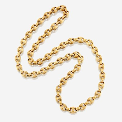 Lot 14 - An eighteen karat gold chain, Nicolis Cola