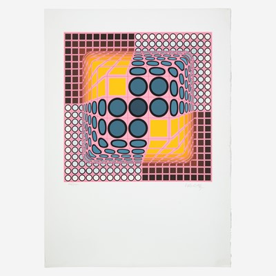 Lot 112 - Victor Vasarely (Hungarian/French, 1906-1997)