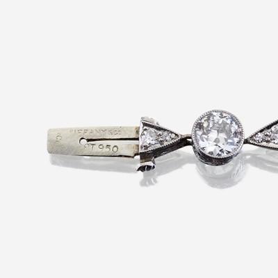 Lot 65 - An Art Deco diamond and platinum bracelet, Tiffany & Co.