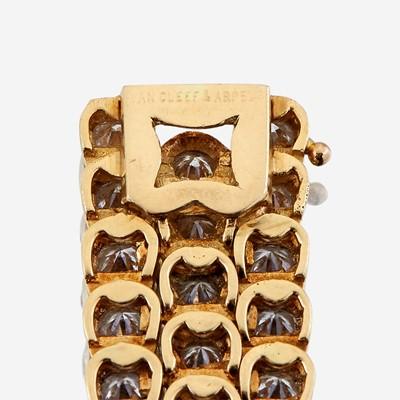 Lot 26 - A diamond and eighteen karat gold bracelet, Van Cleef & Arpels