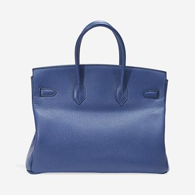 Lot 70 - A blue de malte togo leather gold hardware Birkin bag 35, Hermès