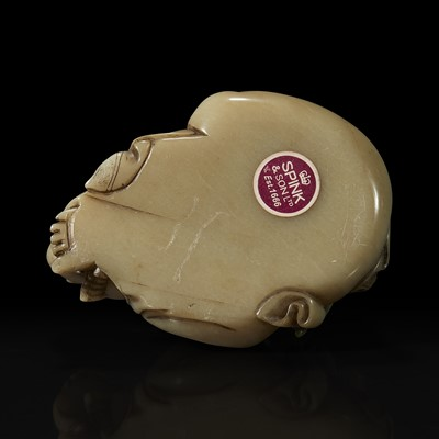 Lot 57 - A Chinese carved soapstone figure of a seated Budai 寿山石雕布袋和尚