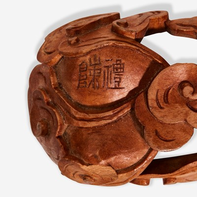 """Lot 48 - A Chinese inscribed archaistic bronze """"Tiger"""" tally 嵌金铜虎符"""