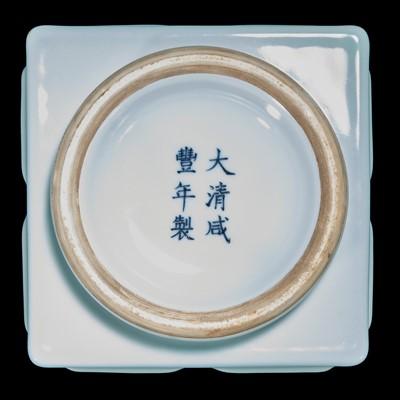 "Lot 34 - A Chinese pale celadon-glazed ""Cong"" vase 青釉琮式瓶"