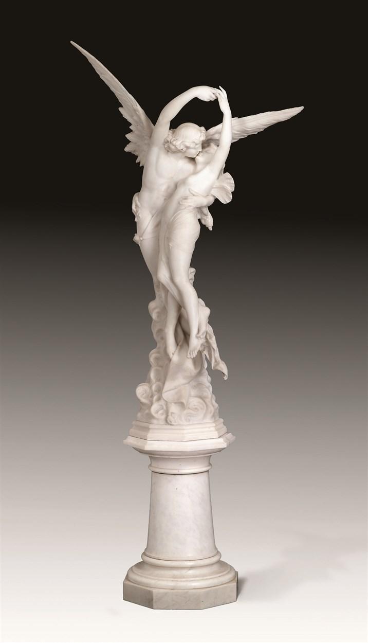 Lot 464 - Fine Italian marble sculpture by Cesare Lapini