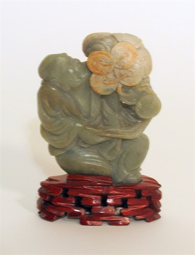 Lot 79 - Chinese green jadeite figure