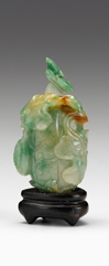 Lot 14 - Chinese green and celadon jadeite snuff bottle