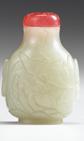 Lot 34 - Chinese light celadon jade snuff bottle