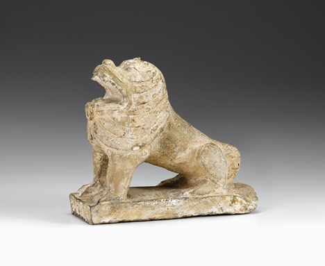 Lot 370 - Fine and Large Chinese grey-white stone lion