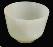Lot 37 - Fine Chinese white jade cup