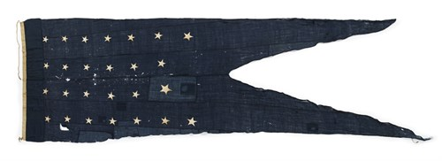 Lot 8 - Rare Commodore's Broad Pennant  from the USS Constitution
