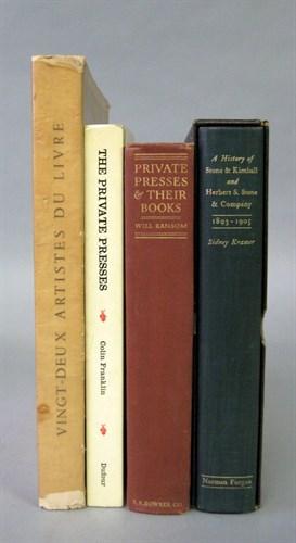 Lot 1 - 4 vols. (1 wrapper.) Books on Private, Small...