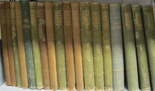 Lot 22 - 21 vols. (1 wrapper.) [Arts and Crafts...