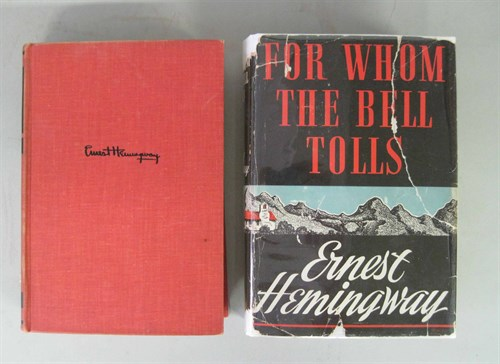 Lot 91 - 2 vols. Hemingway, Ernest: For Whom the Bell...