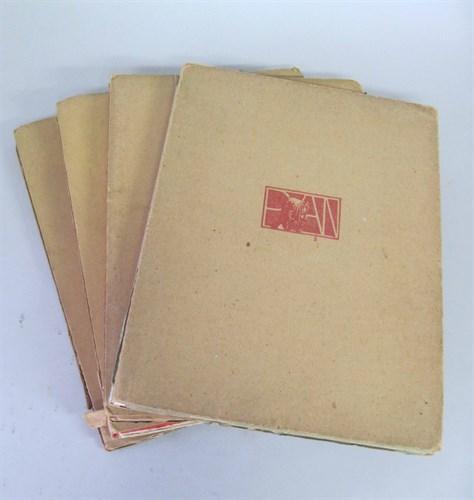 Lot 19 - 4 vols.(wrappers.) Art Nouveau Illustrated...