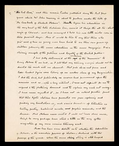 Lot 216 - 1 piece. Autograph Manuscript Signed. Doyle,...