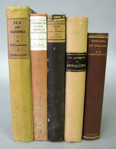 Lot 88 - 5 vols. Lawrence, D.H. [Travel, Essays, Poetry...