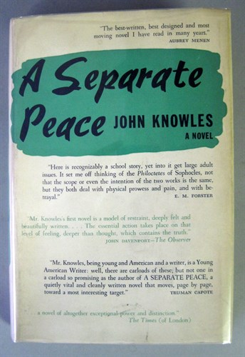 Lot 72 - 1 vol. Knowles, John. A Separate Peace. New...