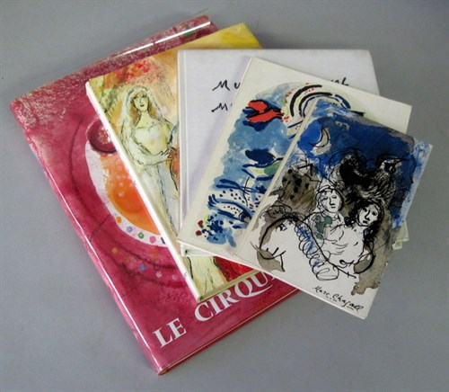 Lot 57 - 5 vols. (2 wrappers.) (Chagall, Marc.) Prevert,...