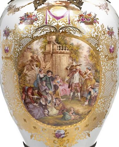 Lot 176 - Large and Impressive KPM white ground porcelain vase