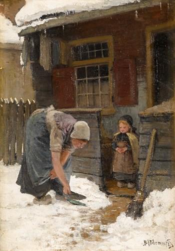 Lot 20 - BERNARDUS JOHANNES BLOMMERS  (DUTCH 1845-1914)