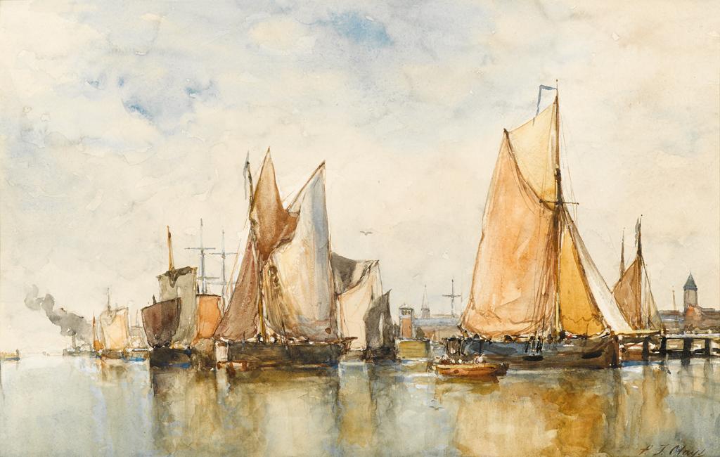 Lot 17 - PAUL JEAN CLAYS  (BELGIAN 1819-1900)